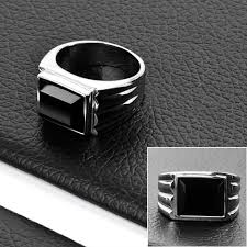 fashion mens rings images Stainless steel fashion mens rings black stone jewelry dr10024 jpg