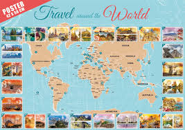 the new puzzle in the world travel around the world grafika
