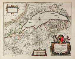 Geneva Map Lacus Lemanni Locorumque Circumiacentium Accuratissima Descriptio