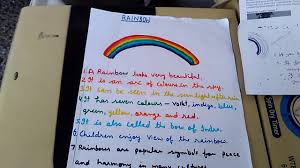 write some lines on rainbow in easy and simple words
