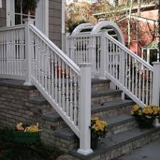 front steps railings and newel posts at home in the hrv