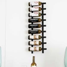 vintage view wall mounted wine rack black 3ft 9 bottle