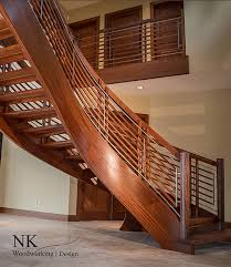 woodworking modern stairs nk woodworking floating curved stair
