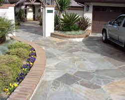 Patio Edging Stones by Decor U0026 Tips Astounding Flagstone Pavers Driveway With Brick