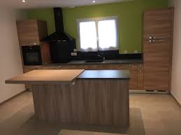 cuisine effet bois design conception