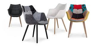 Chaise Design Transparente Pas Cher by Decoration Chaises Design Pas Chere Chaise Tissu Patchwork Gris