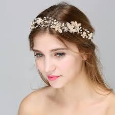 wedding headpiece aliexpress buy floral pearl hair vine wedding crown vinatge