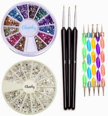 savvy spending amazon nail art kit with gems brushes dotting