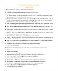 General Contractor Job Description Resume by Construction Project Manager Job Description Construction Project
