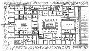 Haus Grundriss Grundriß Eines Römischen Hauses Haus Des Pansa In Pompeji A U