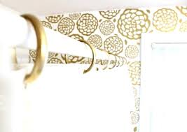 curtain rings gold images Gold shower curtain rings vibrant design gold shower curtain hooks jpg