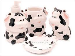 Cow Decor China Wholesale Bathroom Accessories Personal Care Manicure And