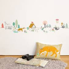 wall border stickers for kids forest by mimilou