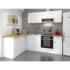cuisine c discount cuisine laqué blanc moderne cdiscount cosy cuisine complète 2m80