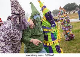 traditional cajun mardi gras costumes revelers in traditional cajun mardi gras costume in the