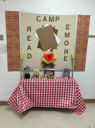 Camping Decorations Camp Read S U0027more Camping Theme Pinterest Book Fairs Camping