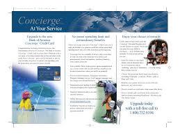 Bank Of America Design Cards Bank Of America Concierge Card Package Brochure