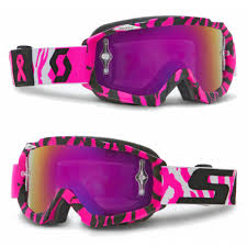 scott prospect motocross goggle bca scott hustle motocross goggle ltd edition bca breast cancer