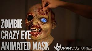 modesto spirit halloween morphdigitaldudz zombie crazy eye animated mask youtube