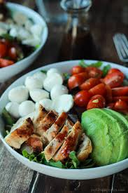 light and easy dinner ideas 15 minute avocado caprese chicken salad with balsamic vinaigrette