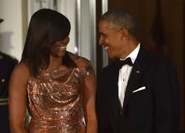 michelle obama stuns in rose gold versace gown at her final state