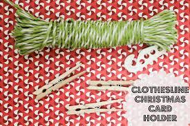 clothesline christmas card holder diy so festive