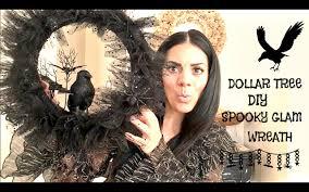 diy dollar tree halloween wreath spooky glam halloween wreath