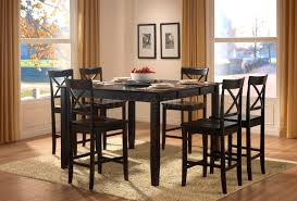 furniture scenic counter height table storage black dining room