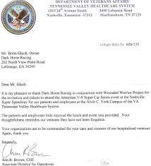 va thank you letter