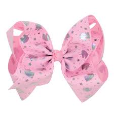 flower bow new unicorn bow hair for kids flower bow hairpins