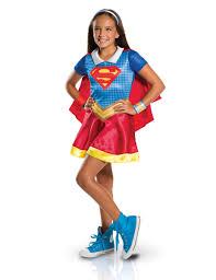 Supergirl Halloween Costumes Disfarce Clássico Menina Supergirls Superhero Girls Este