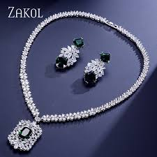 zircon necklace sets images Zakol official store small orders online store hot selling and jpg
