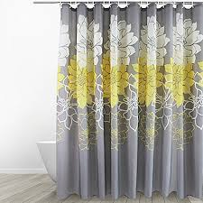 Yellow And Navy Shower Curtain Bathroom Shower Curtain Sets Amazon Com