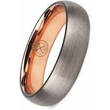 manly wedding bands the instigator tungsten w gold plating inside ring manly