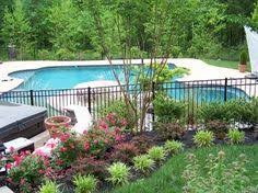 nice idea for inground pool landscaping the best inground pool