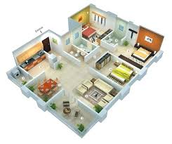 3 bedroom floor plan 3 bedroom apartment house 3d layout floor plans apartment