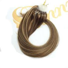 1 Gram Micro Loop Hair Extensions by Loop Micro Ring Beaded Remy Human Hair Extensions Blonde Mixed