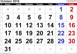 calendar october 2016 uk bank holidays excel pdf word templates