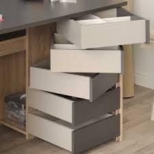 Schreibtisch Kolonialstil Pc Schreibtisch Lash In Eiche Grau Mit Schubladen