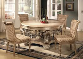 Cheap Dining Room Furniture by Simple White Round Dining Table 4 Legs Glass With Leather Chairs