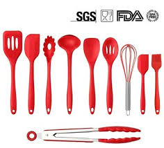 Kitchen Utensils Red - silicone kitchen utensils set of 4 silicone no mess cooking