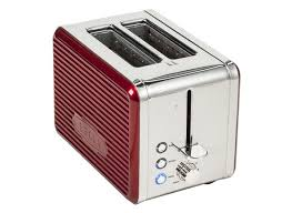 Red 2 Slice Toaster Bella Linea Collection 2 Slice Toaster