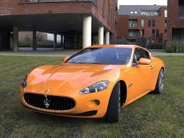 maserati orange maserati granturismo car 3d model cgtrader