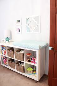 Changing Table Shelf Baby Nursery Pale Aqua Bookshelf Changing Table Maybe