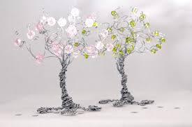 four seasons tree set of mini wire sculptures by nouveautique on