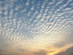 pattern of white clouds in streaks types of clouds cirrus cumulus en high clouds low clouds rain