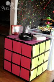 interior design creative decorations for 80s themed party room