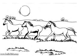 galloping horses coloring pages hellokids