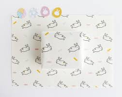 easter wrapping paper easter bunny wrapping paper egg stickers