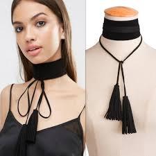 black collar necklace fashion images Buy velvet choker tassel necklace women handmade jpg